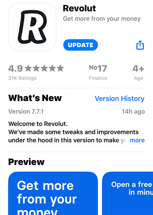 Revolut Apple Store