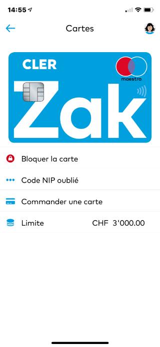 ZAK Paramètres Carte