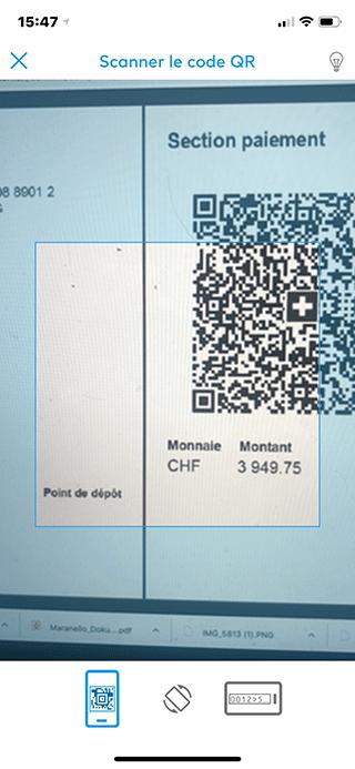 ZAK Scanner facture QR Codes