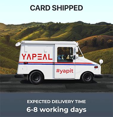 Yapeal livraison carte VISA