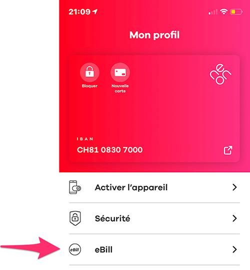 Factures eBill Neon Banque